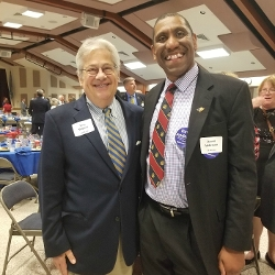 State Auditor Tom Wagner with David Anderson