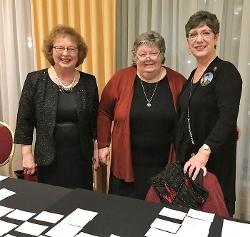 Janet Foltz; Elizabeth Bartley-Garris; Janet Postles.