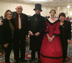 Gale and John White; Abraham Lincoln (Don Lonski); Mrs. George Fisher (Teresa Pierce); Mary Spicer.