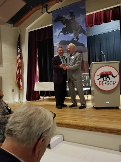 County Chair Hank McCann won the Pat Murray Award! This is the biggest award the DE GOP has!