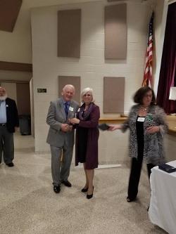 DE GOP Chairman Mike Harrington with award winner