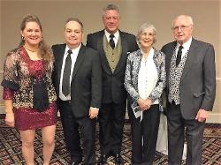 Robin and Bob Hayes; Gene Truono; Marcia and Michael Kelly.