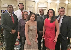 L to R: Dover Councilman David Anderson; Ayonne Miles; Jeannie and Rebecca Anderson; Anton Brogden; Tori Parker; Shannon Diaz.